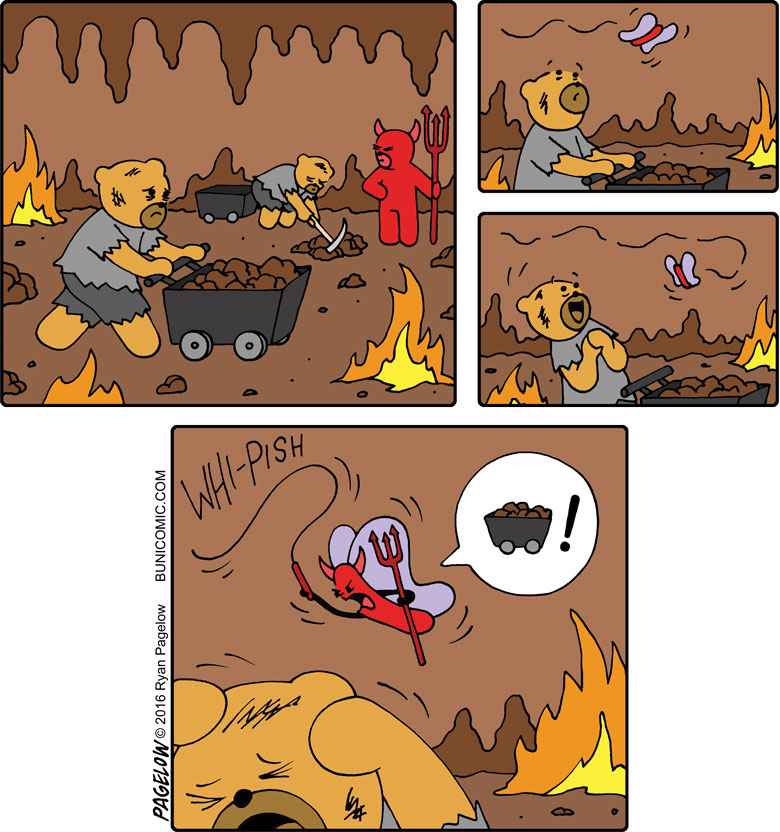 Never trust a butterfly in Hell