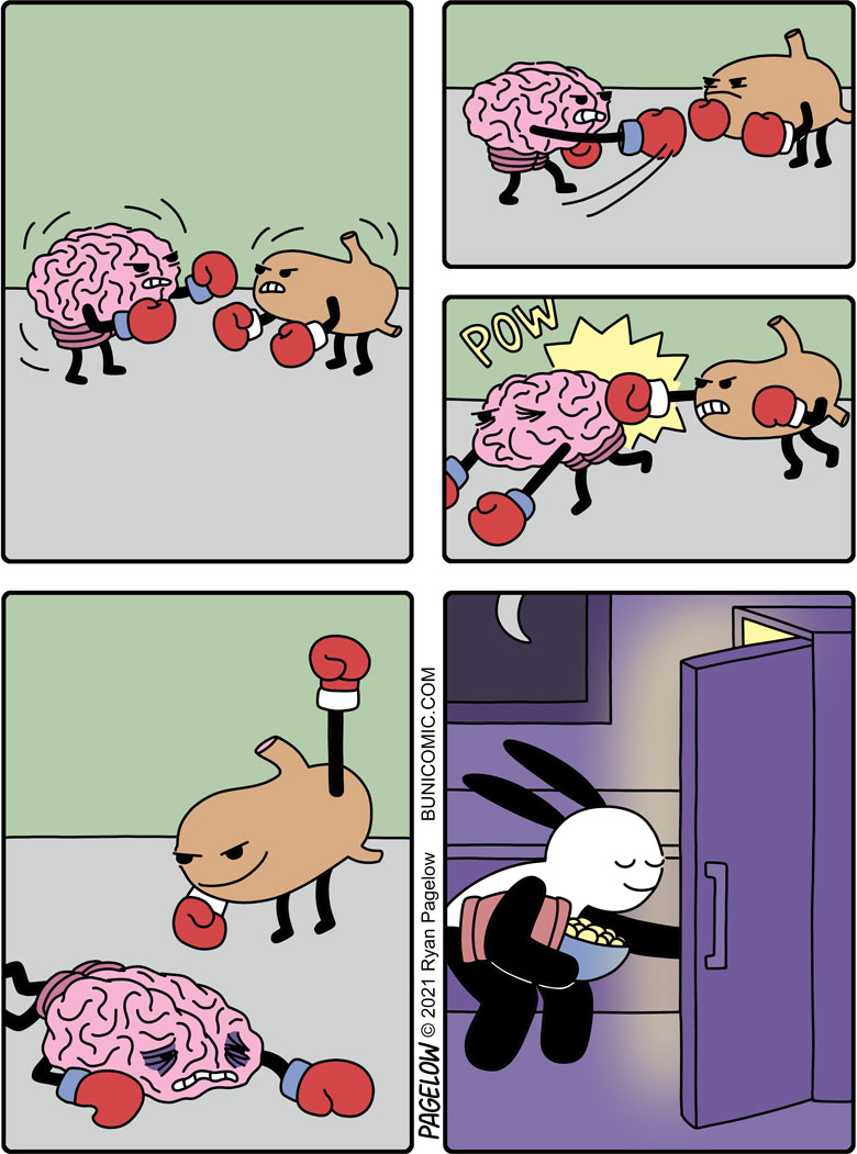 Brain vs. Stomach